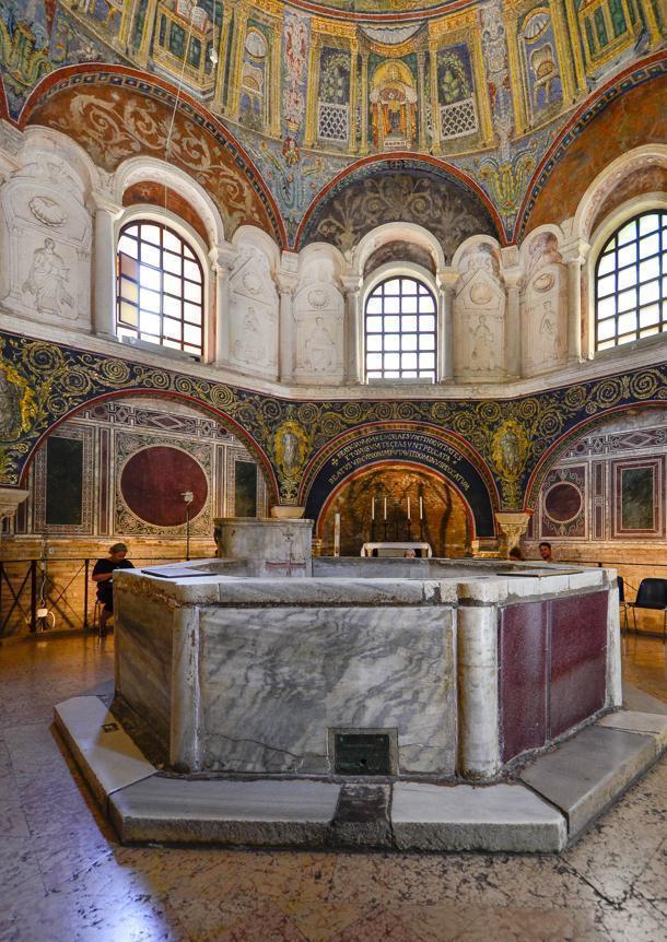 Inside Ravenna's Baptistery of Neon