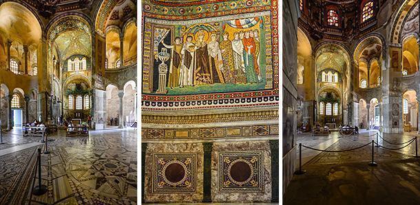 The detailed mosiacs of San Vitale