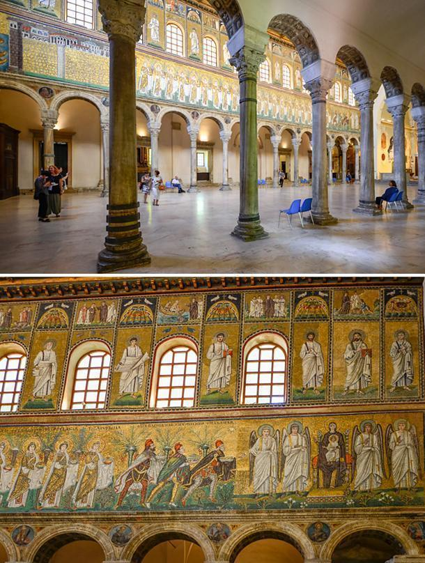 Take time to sit and admire the Basilica of Sant' Apollinare Nuovo, Ravenna, Italy