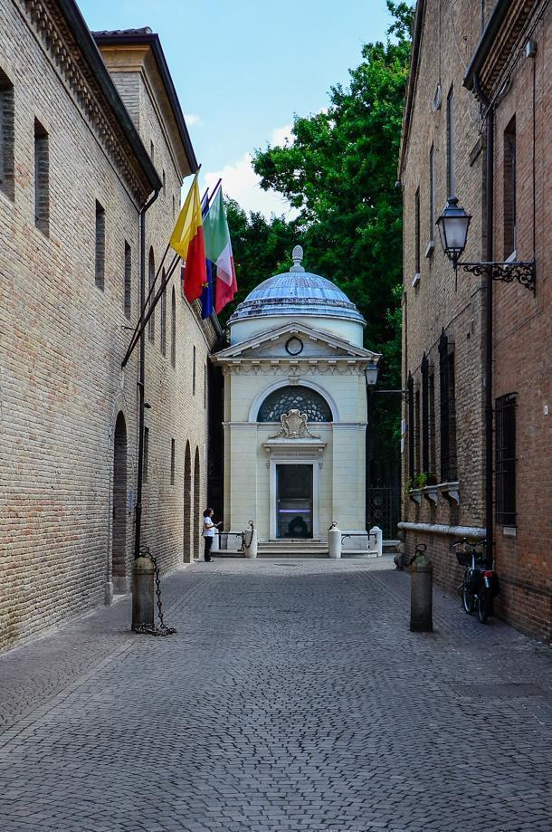Dante Alighieri's Grave in Ravenna, Italy