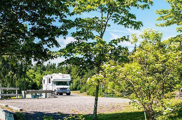 Yeti the motorhome stretches her legs on the Fundy Trail Parkway
