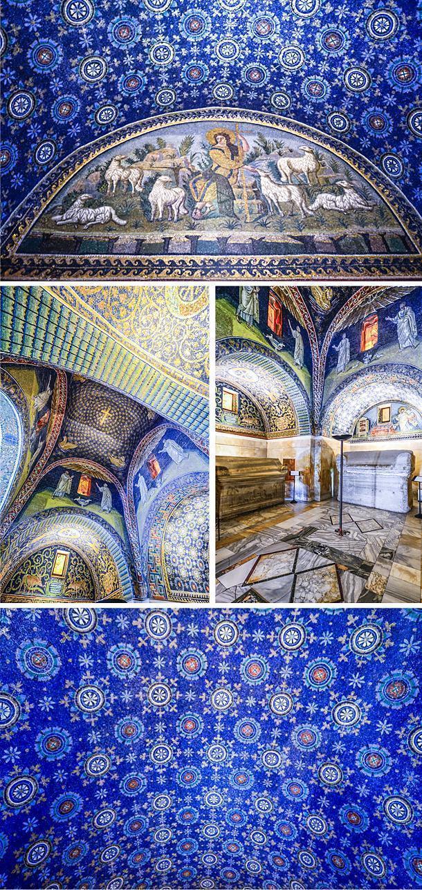 The Mausoleum of Galla Placidia is a UNESCO World Heritage Site