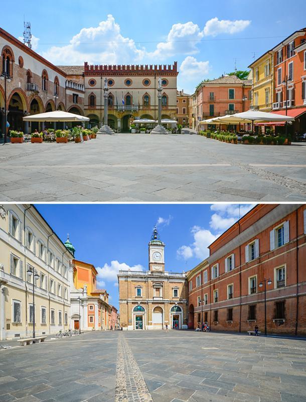 Piazza del Popolo in Ravenna, Italy's beautiful centre
