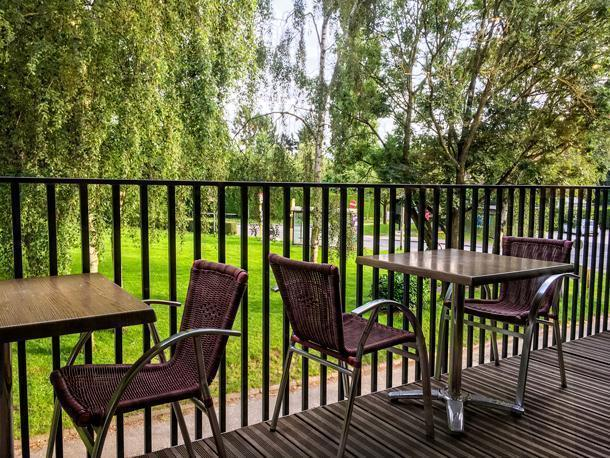 Enjoy the terrace while the sun shines!