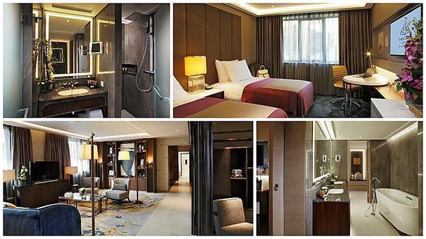 Above: Fang guestroom. Below: The ultimate in luxury, the Presidential Suite