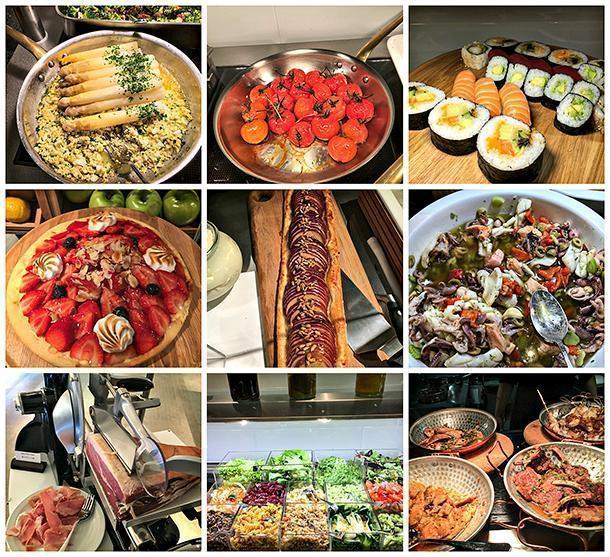 The sumptuous buffet at the Le Cinq restaurant