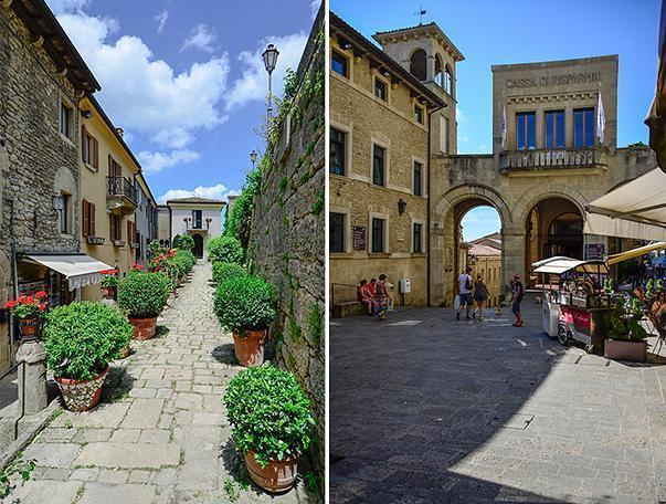 Wander the pretty streets of San Marino's Old Town
