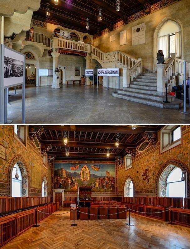 Inside San Marino's Public Palace