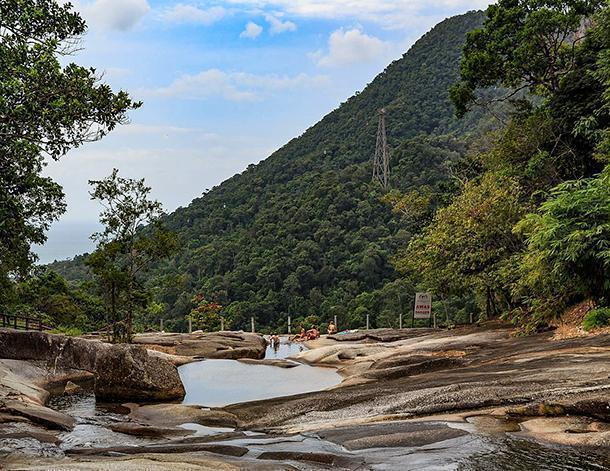 Atop the The Seven Wells Waterfall, Langkawi, Malaysia