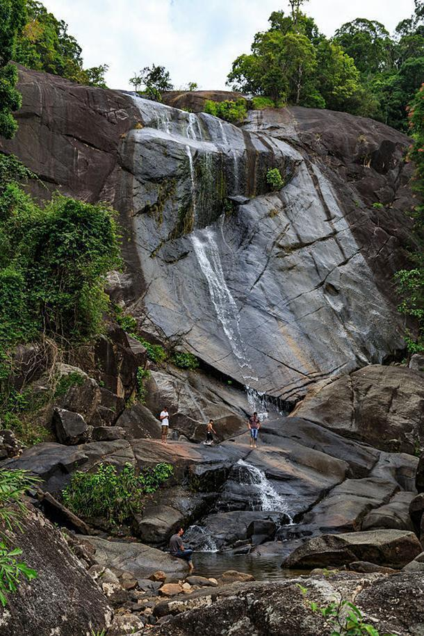 The Seven Wells Waterfall, locally known as Telaga Tujuh, Langkawi, Malaysia