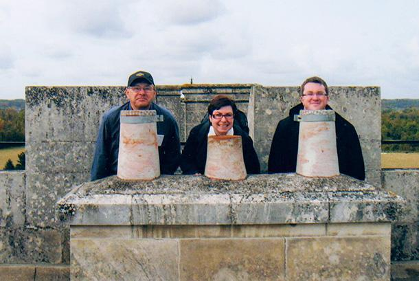 We have so many silly photos of us exploring Europe with Dad. This is a family favourite from France.