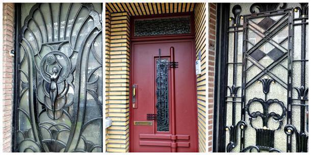 Loved the different styles of doors, dramatic and urbane