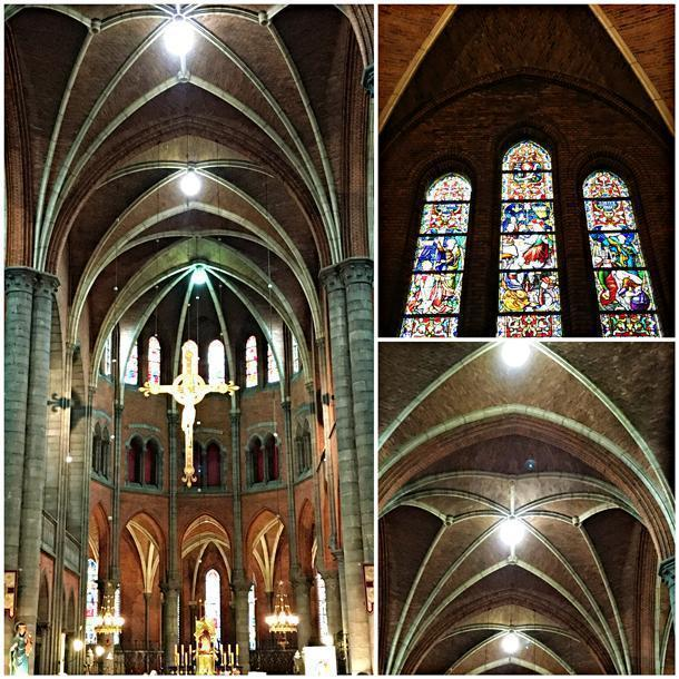 Saint Martin's church with its high ceilings and stained glass windows