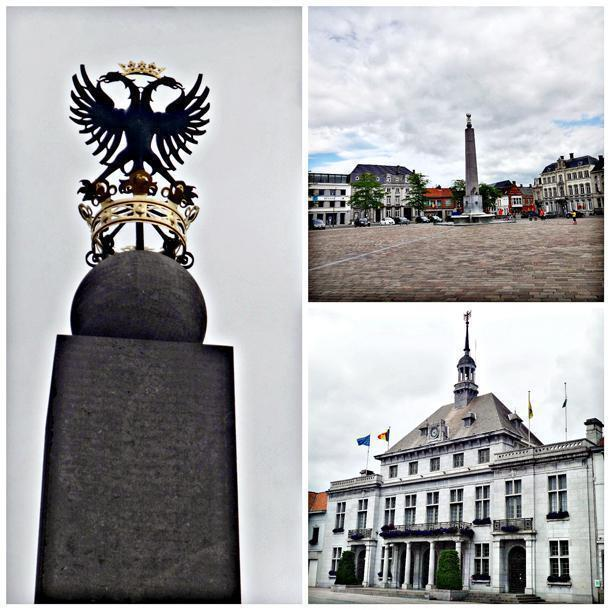 The grand square, town hall and the obelisk with the double-headed eagle, the symbol of the city