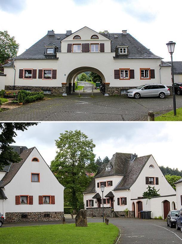 The Neue Kolonie residential area in Jünkerath, Germany