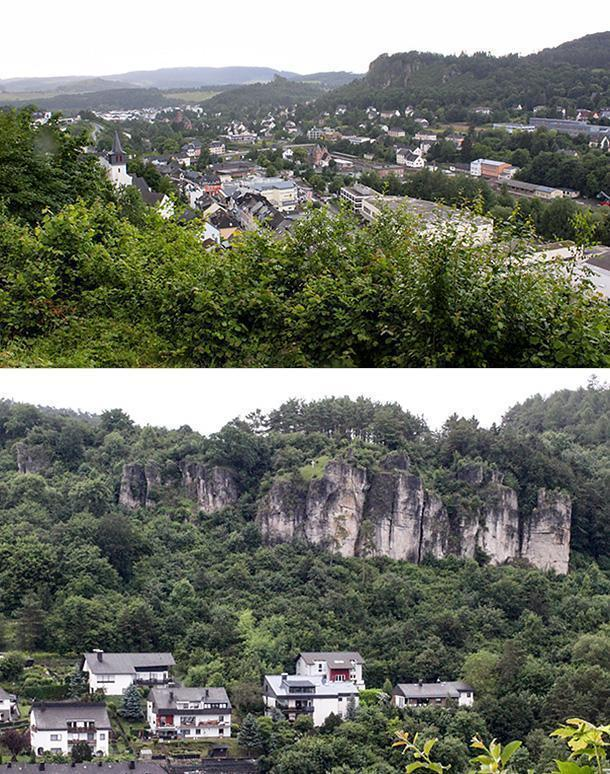 View over Gerolstein from the castle