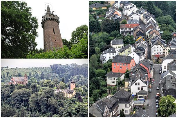 Spying over Kyllburg from the Mariensäule
