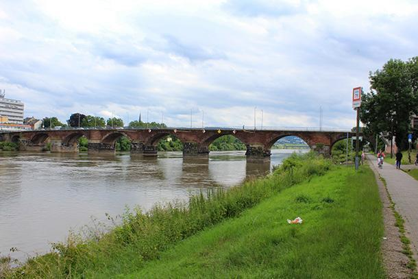 The 2nd century Roman bridge, in Trier, Germany