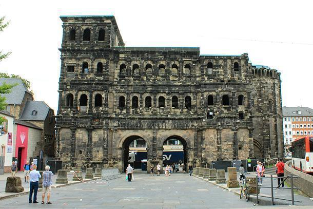 The Porta Nigra, the incredible Roman city gate, in Trier, Germany