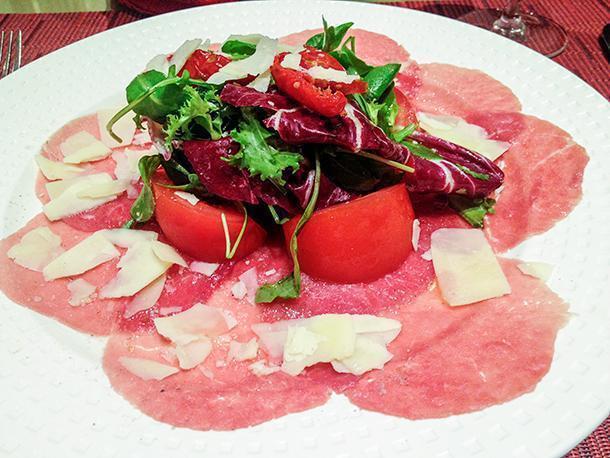 Carpaccio at the Nouveau Taste Restaurant
