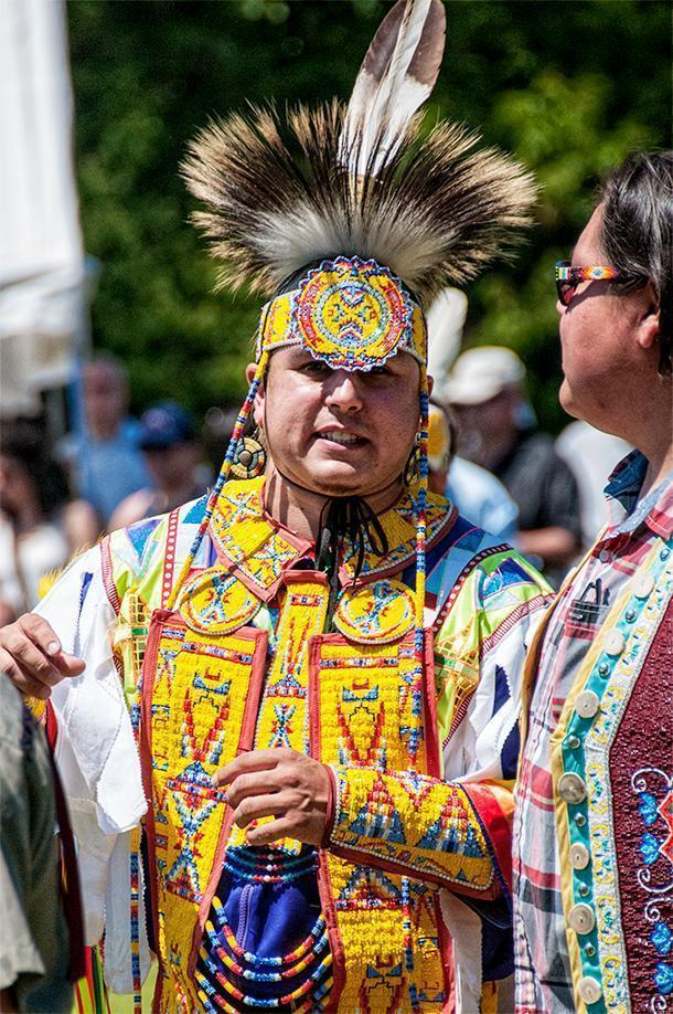 There were plenty of smiles at the Saint Mary's Powwow, in Fredericton