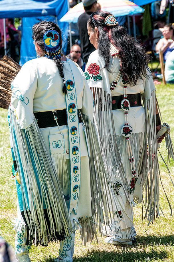 Just look at the beadwork on these Women's Traditional regalia
