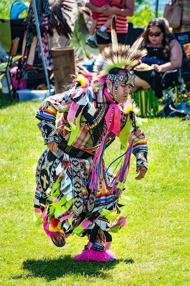 Fancy Dancer at the Saint Mary's Powwow in Fredericton, NB