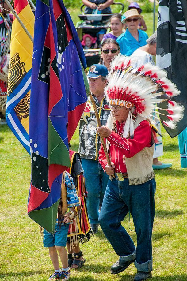 Participants travelled long distances to attend the Saint Mary's Powwow