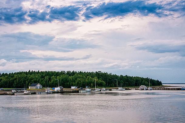 You can visit an active fishing harbour by boat at Kouchibouguac National Park