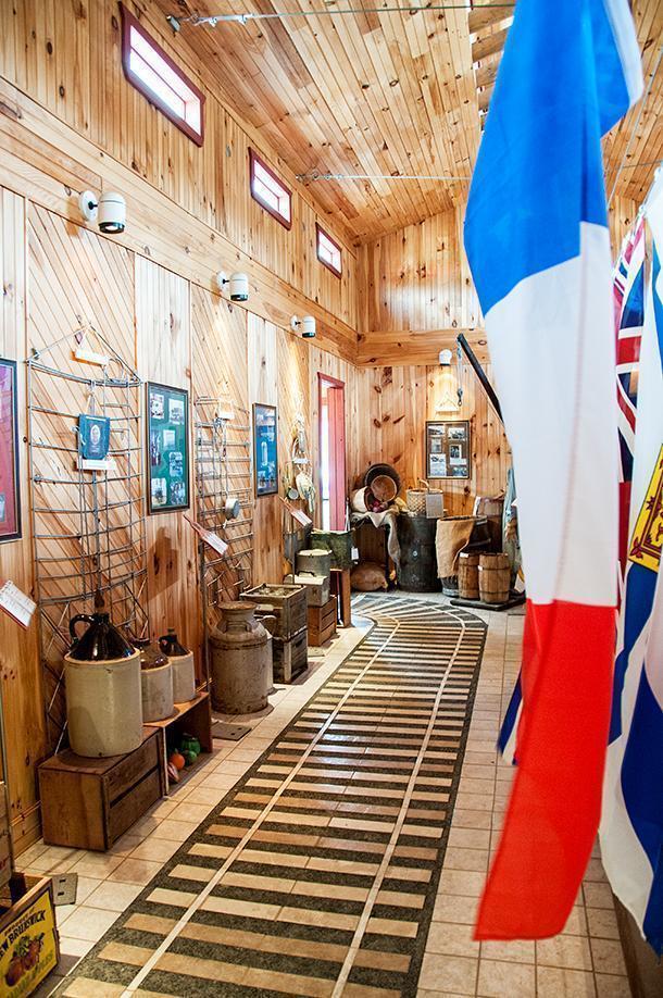 Inside Edmundston's Railroad Interpretation Centre museum