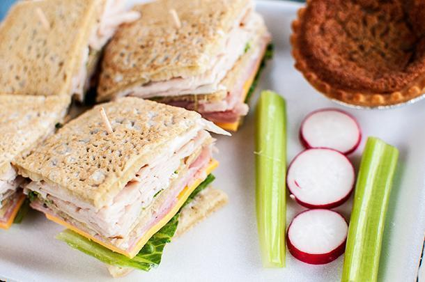 Ployes make a delightful alternative to bread in our sandwiches