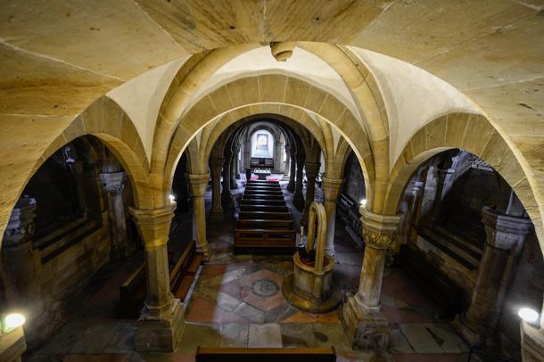 Inside Bamberg Cathedral, Bavaria, Germany