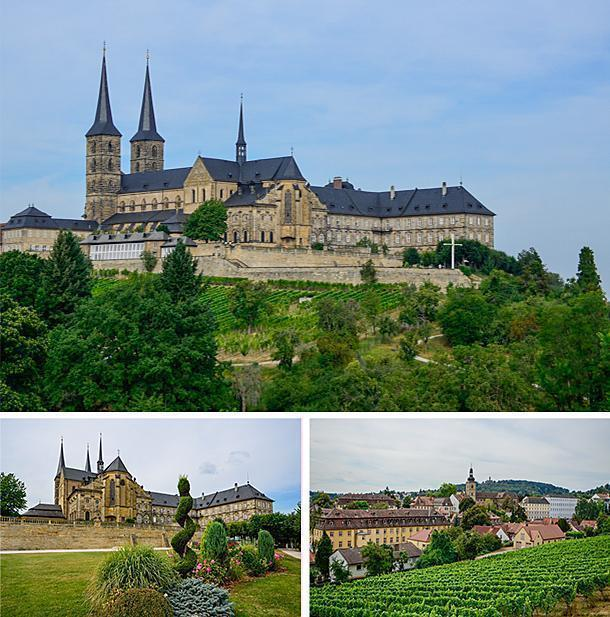 The Michaelskirche Monastery and its vineyard, Bamberg, Germany