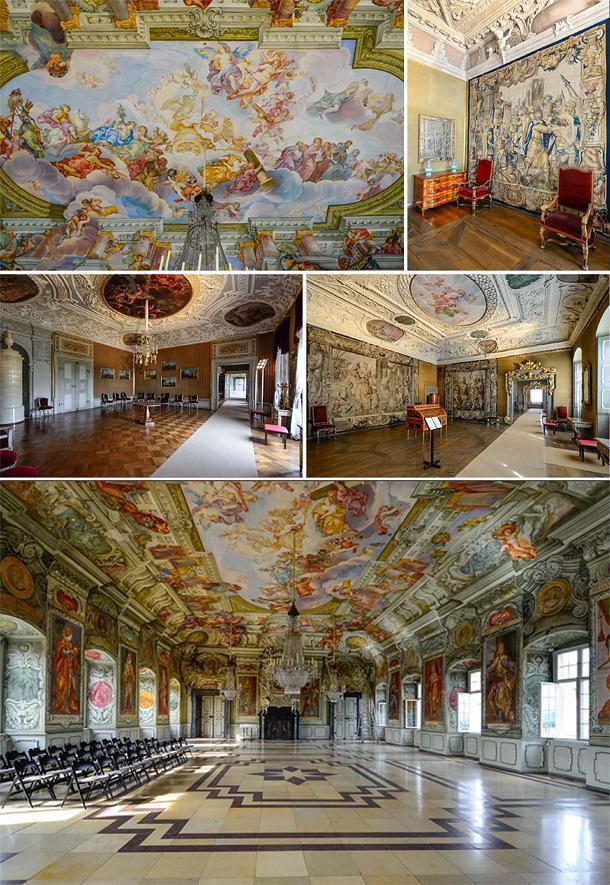 Inside the stunning Neue Residenz Palace, Bamberg, Germany