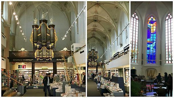 Wanders in the Broeren. Bookshop in the Broeren church along with a nice café and lunch spot.