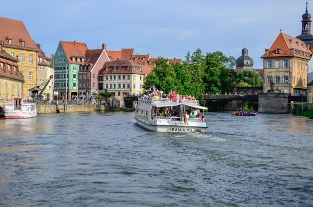 Take a boat tour on Bamberg's river for a different perspective.