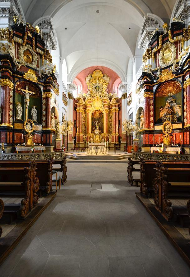 The striking St. Martin Church, in Bamberg