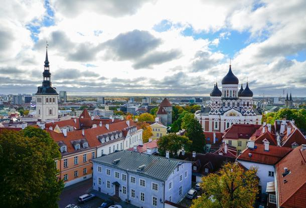 The stunning view from St. Mary's Cathedral, Tallinn, Estonia
