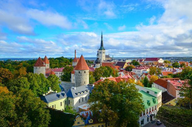 Tallinn Estonia is an easy bus ride from Riga, Latvia