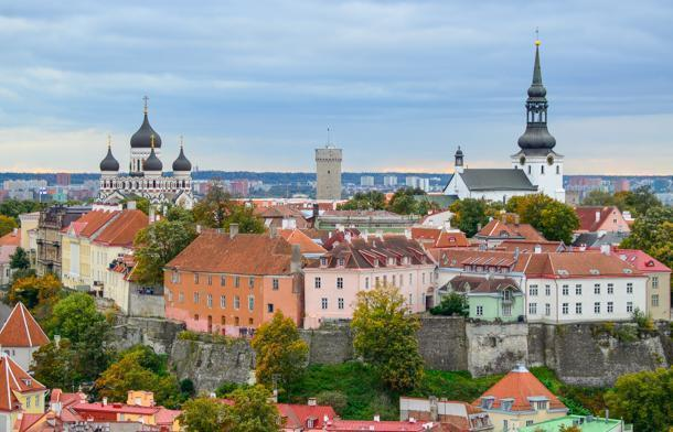 Toompea Hill, Tallinn, as seen from St. Olaf's Church
