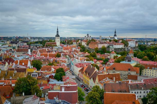 St. Olaf's Church offers an incredible view of Tallinn, Estonia