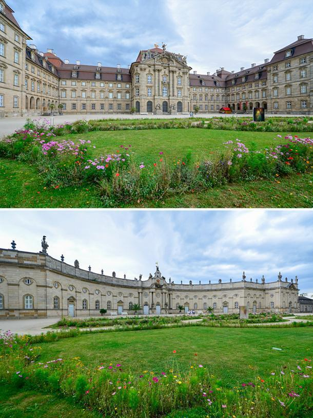 The vast Weißenstein Palace, in Bamberg, Germany