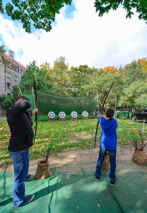 A little bit of archery in Riga, Latvia