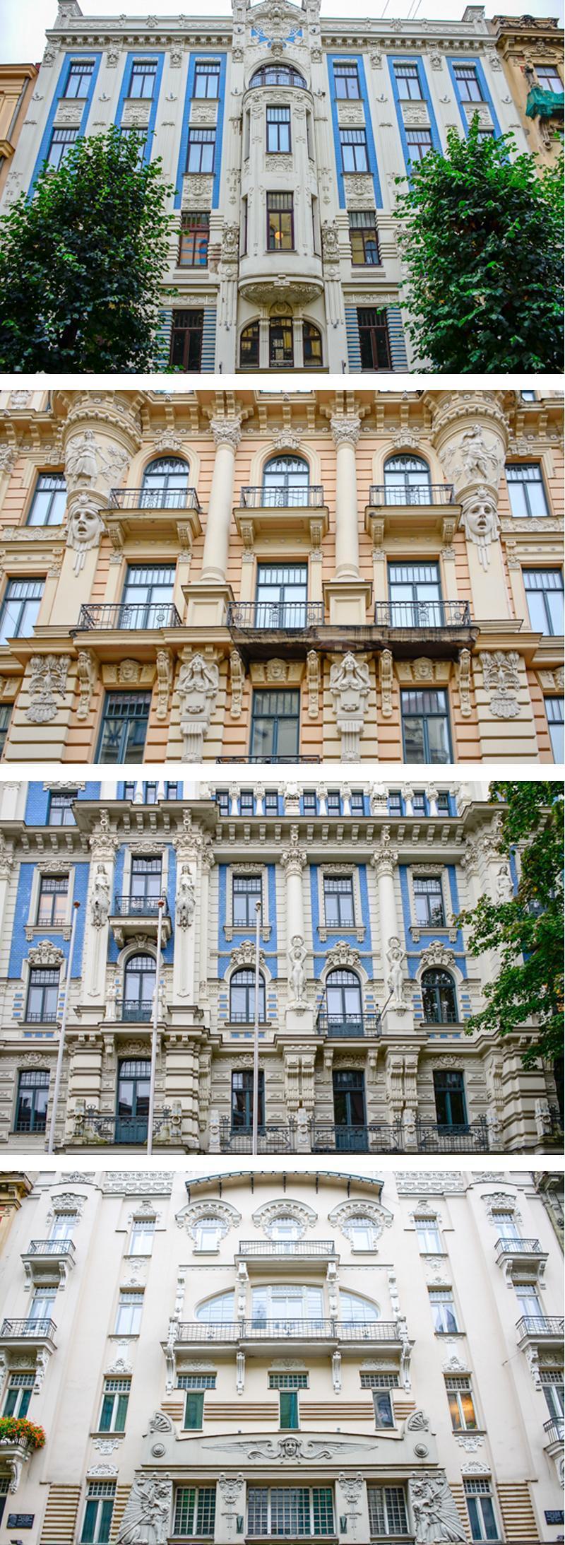 Riga's stunning Art Nouveau architecture is best viewed on Alberta Street