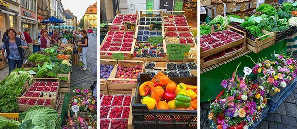 Bamberg's colourful Green Market