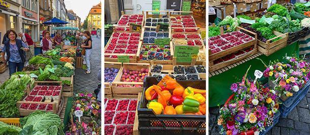 Bamberg's colourful Green Market