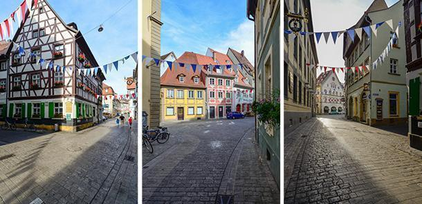 Quiet morning streets in Bamberg, Germany