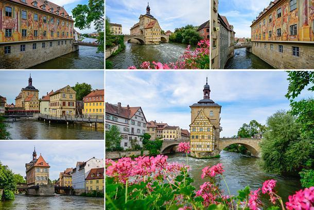 Bamberg's Old Town Hall on its man-made island.