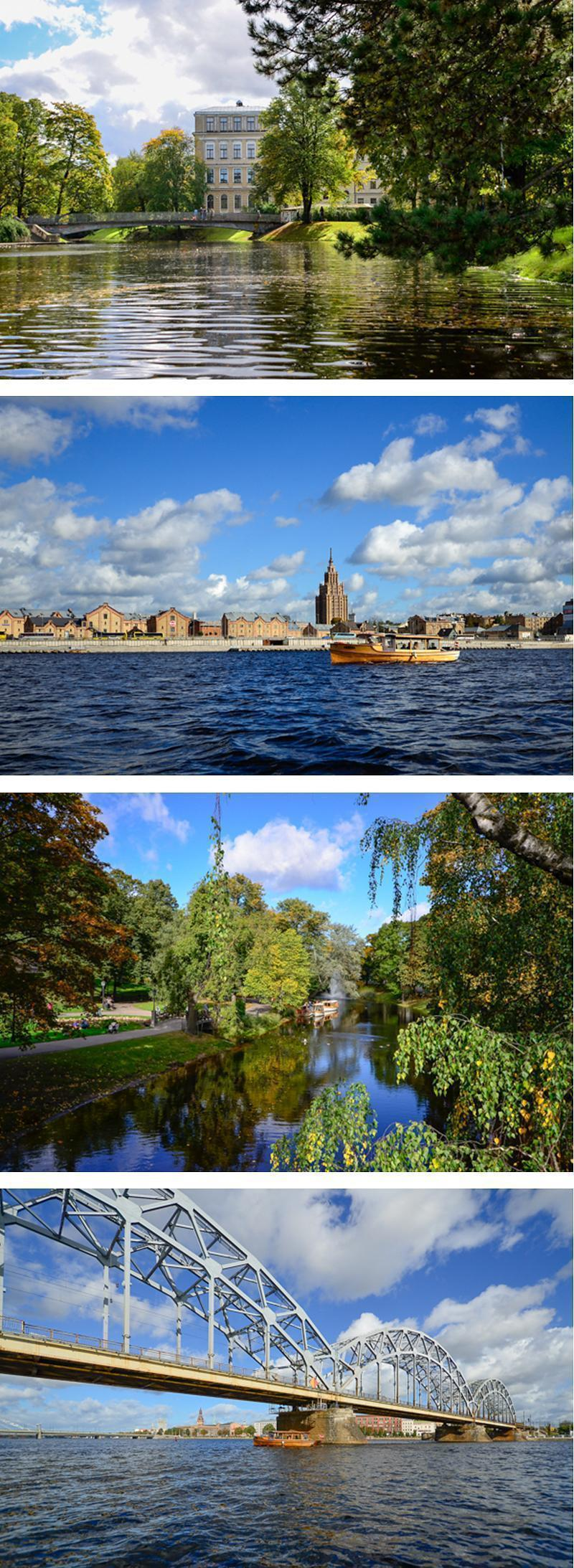 A boat tour allows you to explore both Riga's canal and the river.