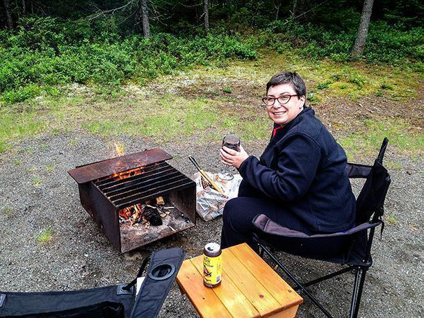 It was a chilly few days at Kouchibouguac but we were cosy by the fire